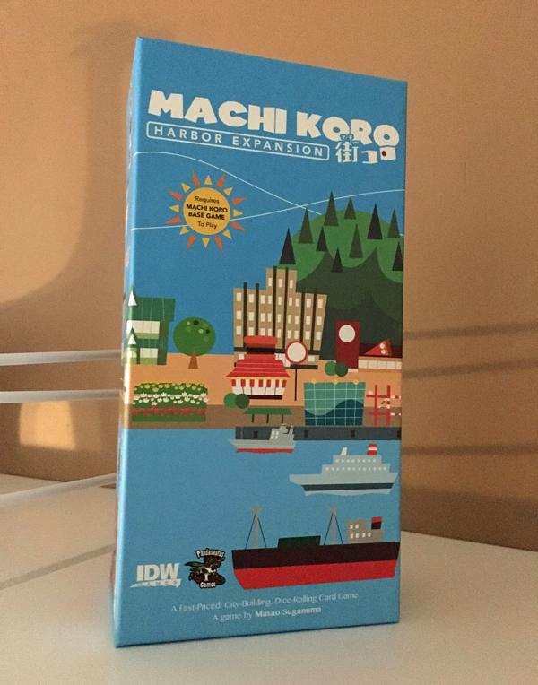 machi koro - harbor brädspel sällskapsspel spelglädje